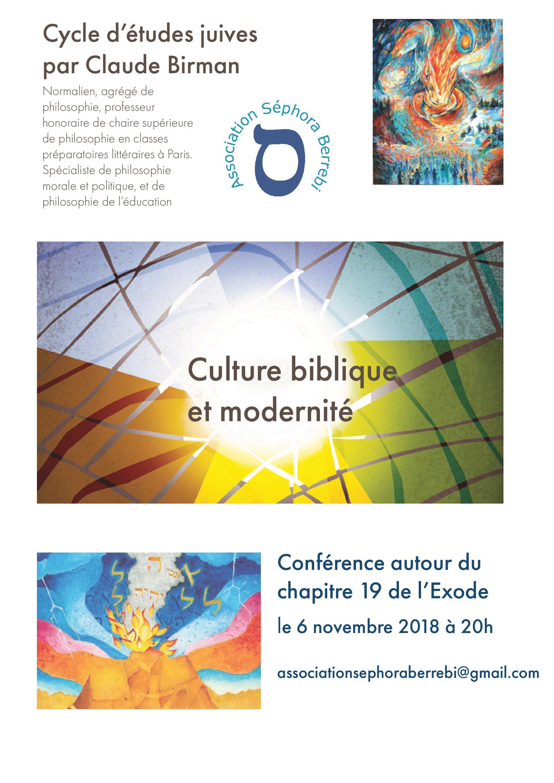 Culture biblique et modernité, avec Claude Birman