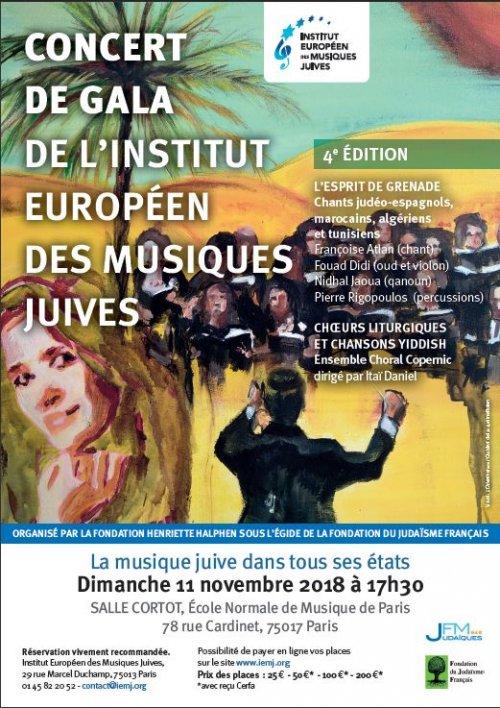Concert de gala de l'Institut Européen des Musiques Juives