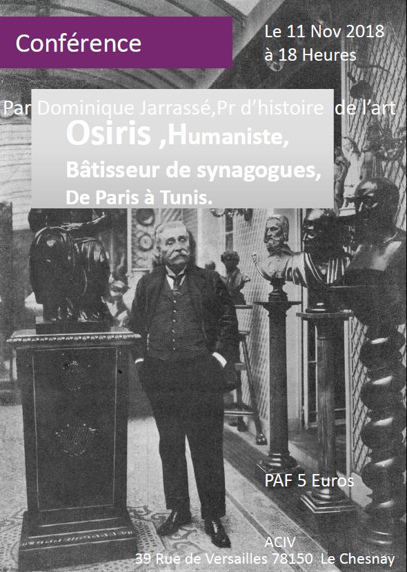 Osiris, humaniste, avec Dominique Jarrasse