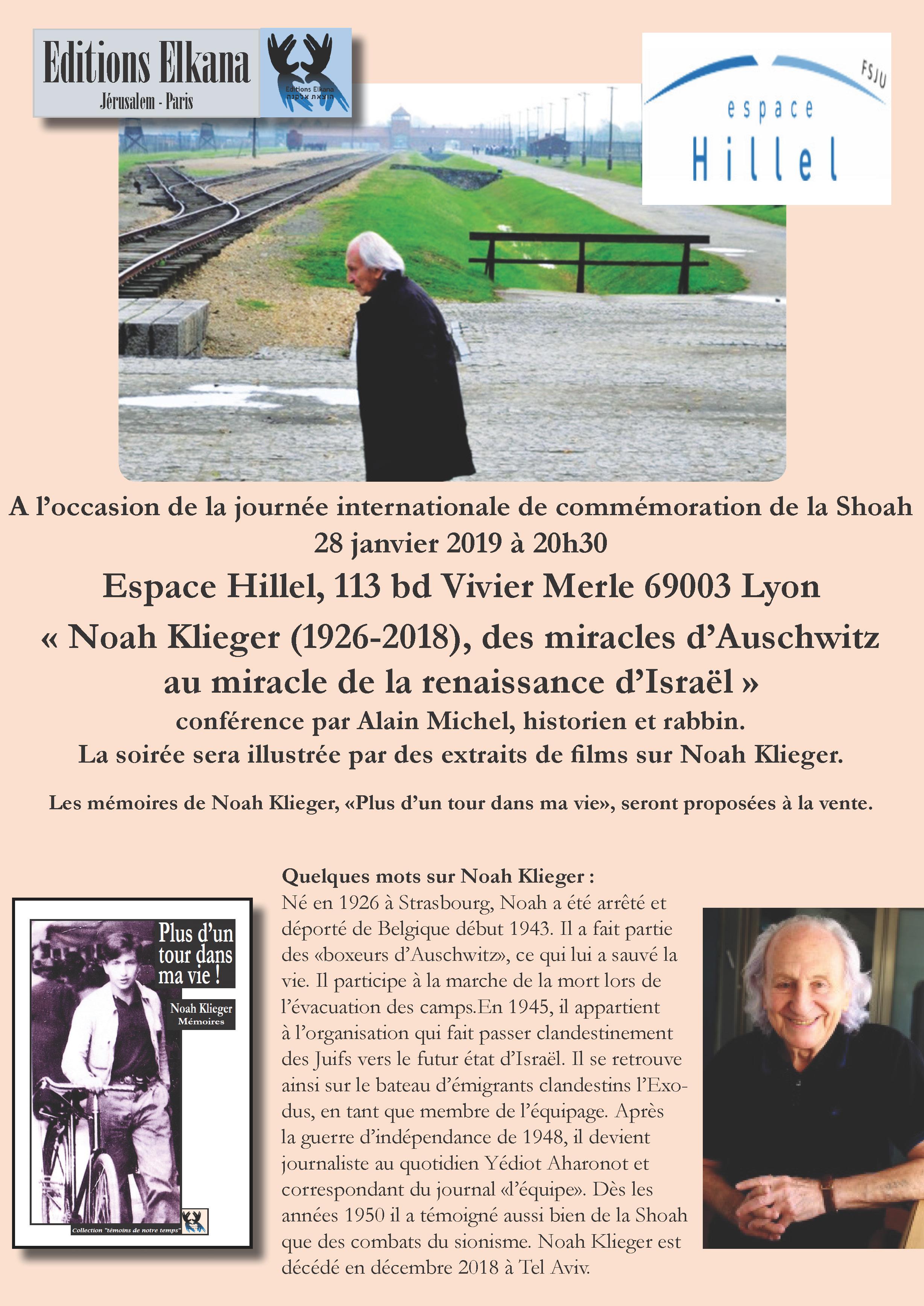 Hommage à Noah Klieger, par Alain Michel