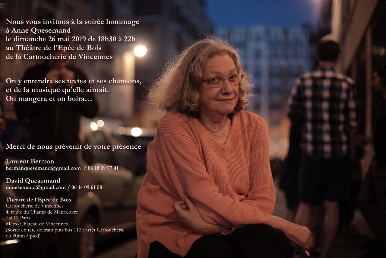 Soirée hommage  à Anne Quesemand