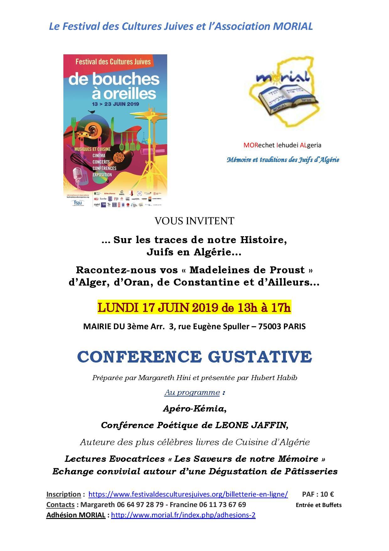 Conférence gustative - Les saveurs de notre mémoire, avec Leone Jaffin