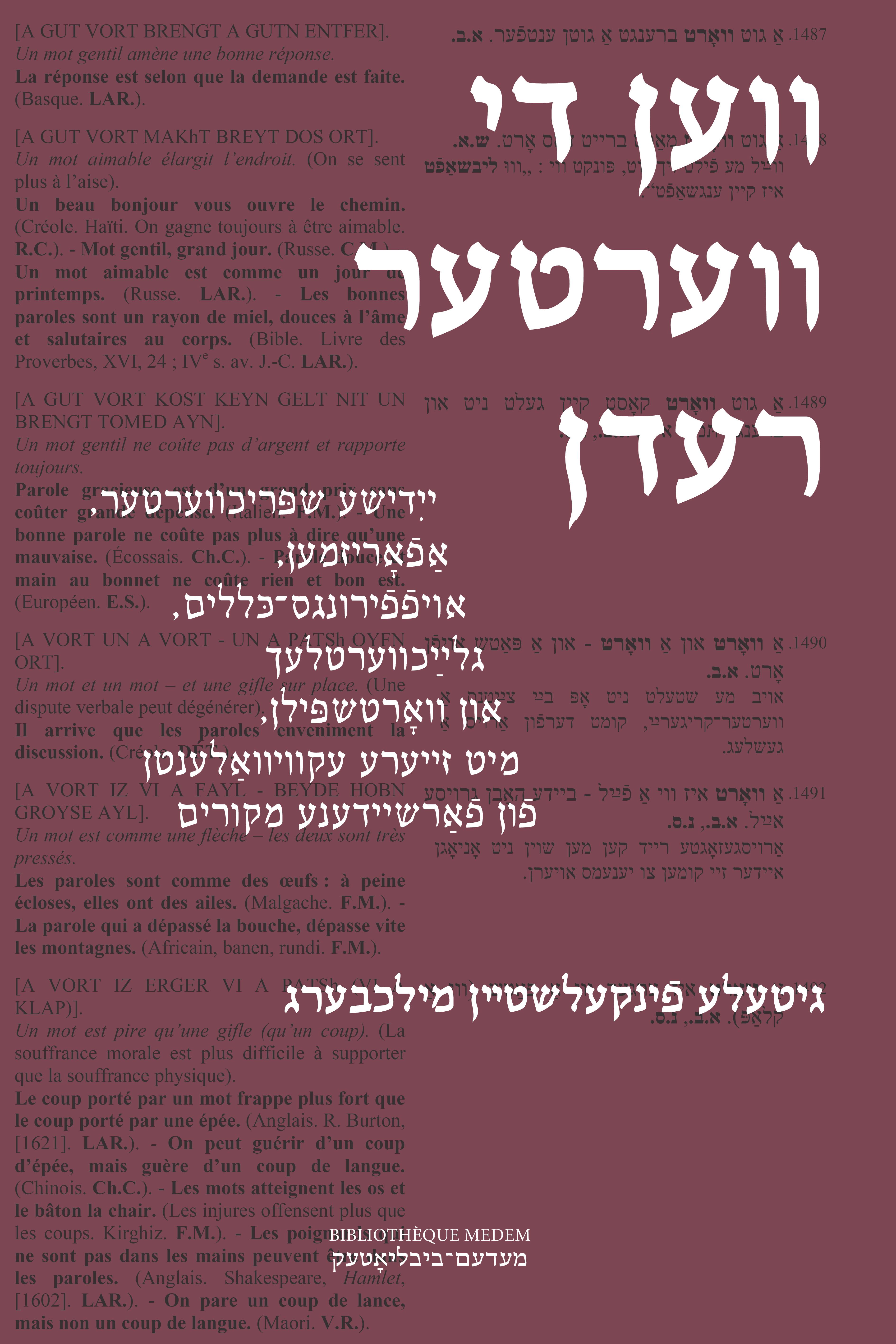 Proverbes yiddish, avec Gloria Finkielsztejn Milchberg