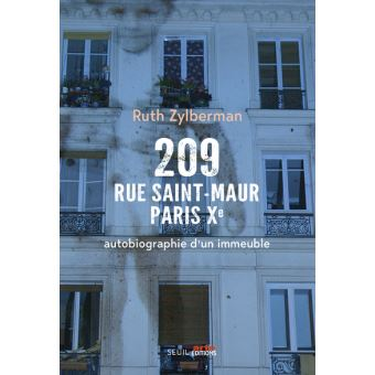 Les enfants du 209 rue Saint-Maur, Paris Xe, de Ruth Zylberman
