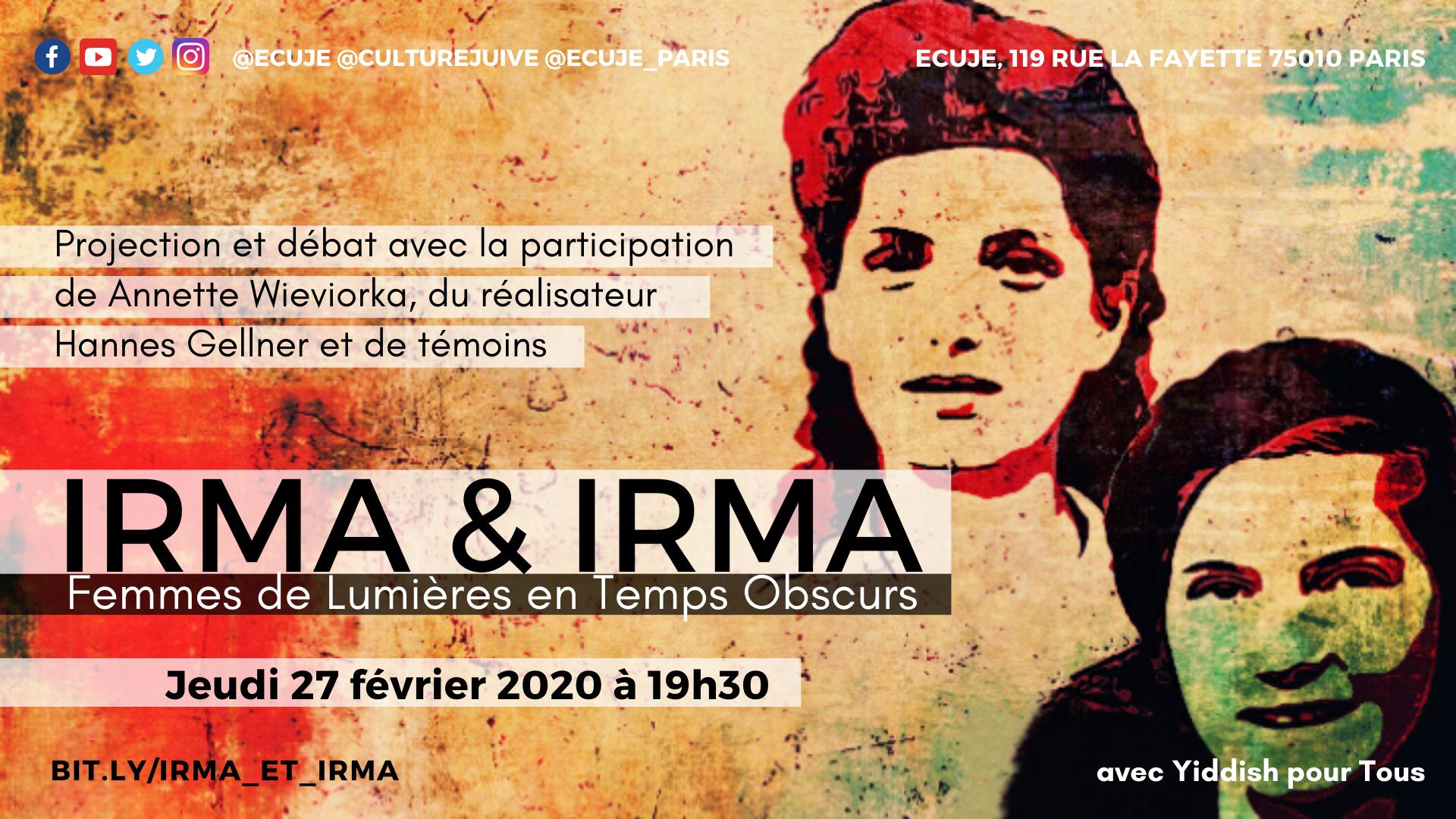 Irma et Irma, avec Annette Wieviorka et Hannes Gellner