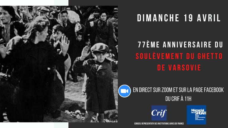 Live: Commémoration du soulèvement du ghetto de Varsovie