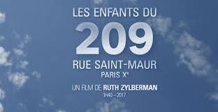 Les enfants du 209, rue Saint-Maur, de Ruth Zylberman