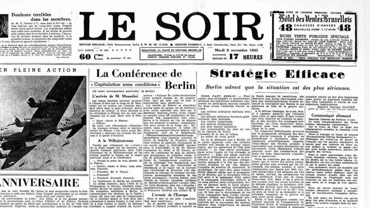 Bruxelles – 1940/1945 – Résistance et collaboration