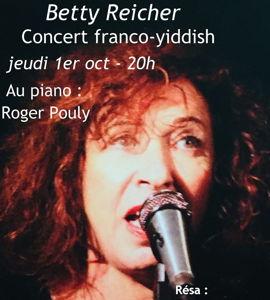 Concert franco-yiddish, avec Betty Reicher