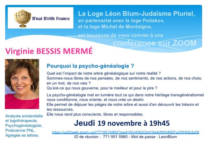 Pourquoi la psycho-généalogie, avec Viriginie Bessis Merme