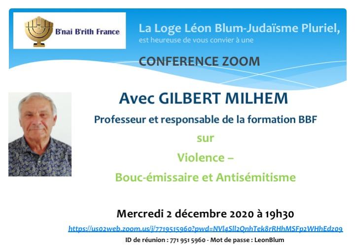 Violence - Bouc émissaire  et  antisémitisme, avec Gilbert Milhem