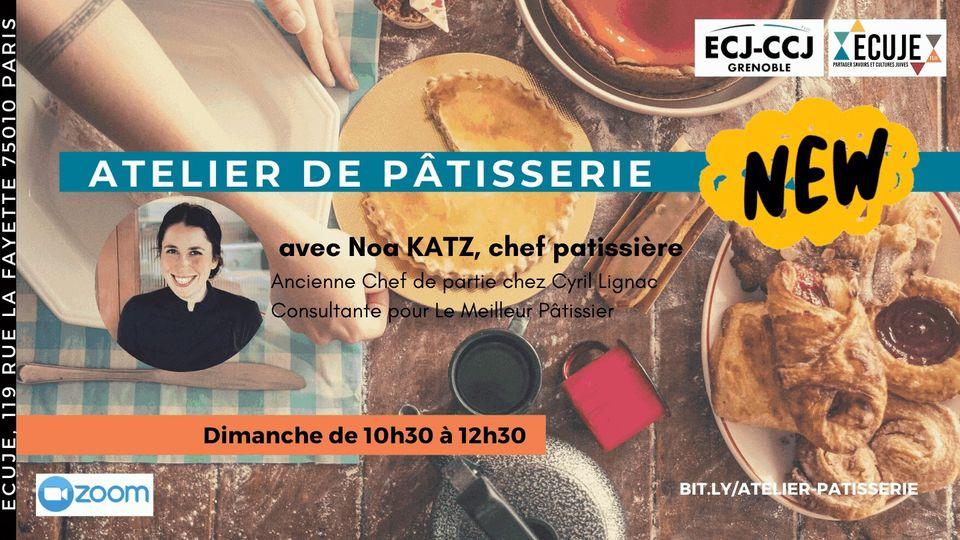 Atelier de pâtisserie,  avec Noa Katz