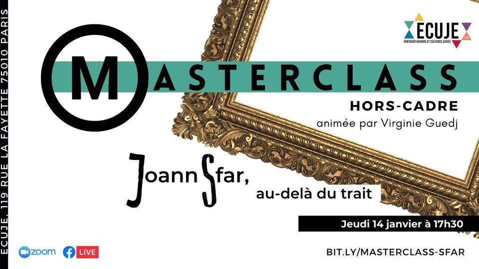 Masterclass hors-cadre de Joann Sfar, avec Virginie Guedj