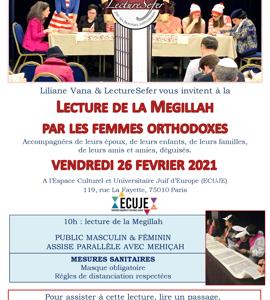 Lecture de la Megila, par les femmes orthodoxes