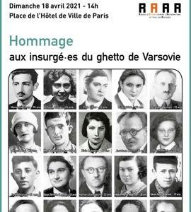 Hommage aux insurgés du Ghetto de Varsovie
