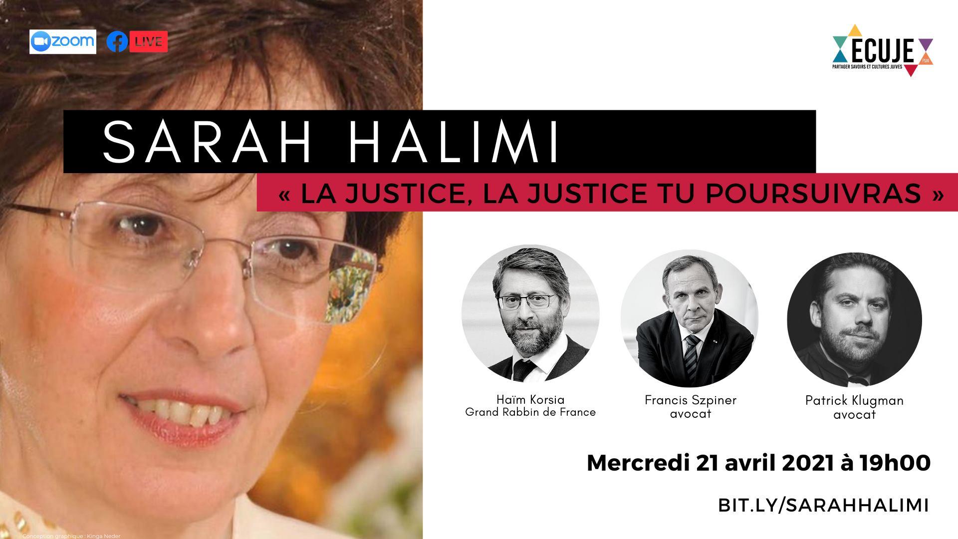 Sarah Halimi : « La Justice, la justice tu poursuivras »