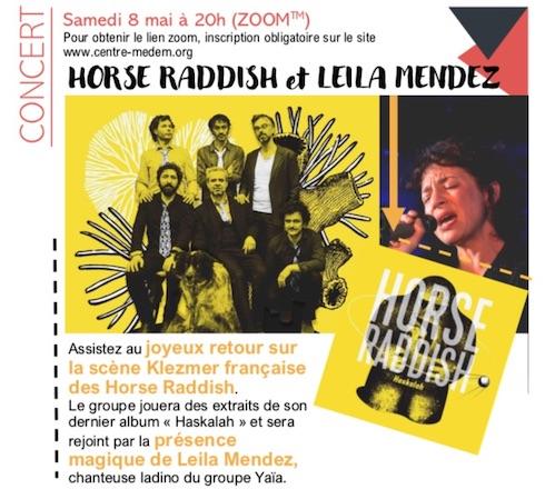 Les Horse Raddish avec  Leila Mendez