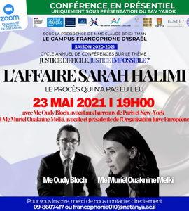 L'affaire Sarah Halimi, avec Oudi Bloch et Murielle Ouaknine Melki