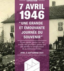 7 avril 1946, une grande et émouvante journée du souvenir