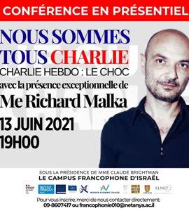 Nous sommes tous Charlie, avec Richard Malka