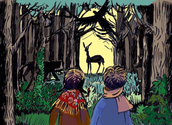 Soudain dans la forêt profonde, avec Charlotte Braun et Olivier Cherki