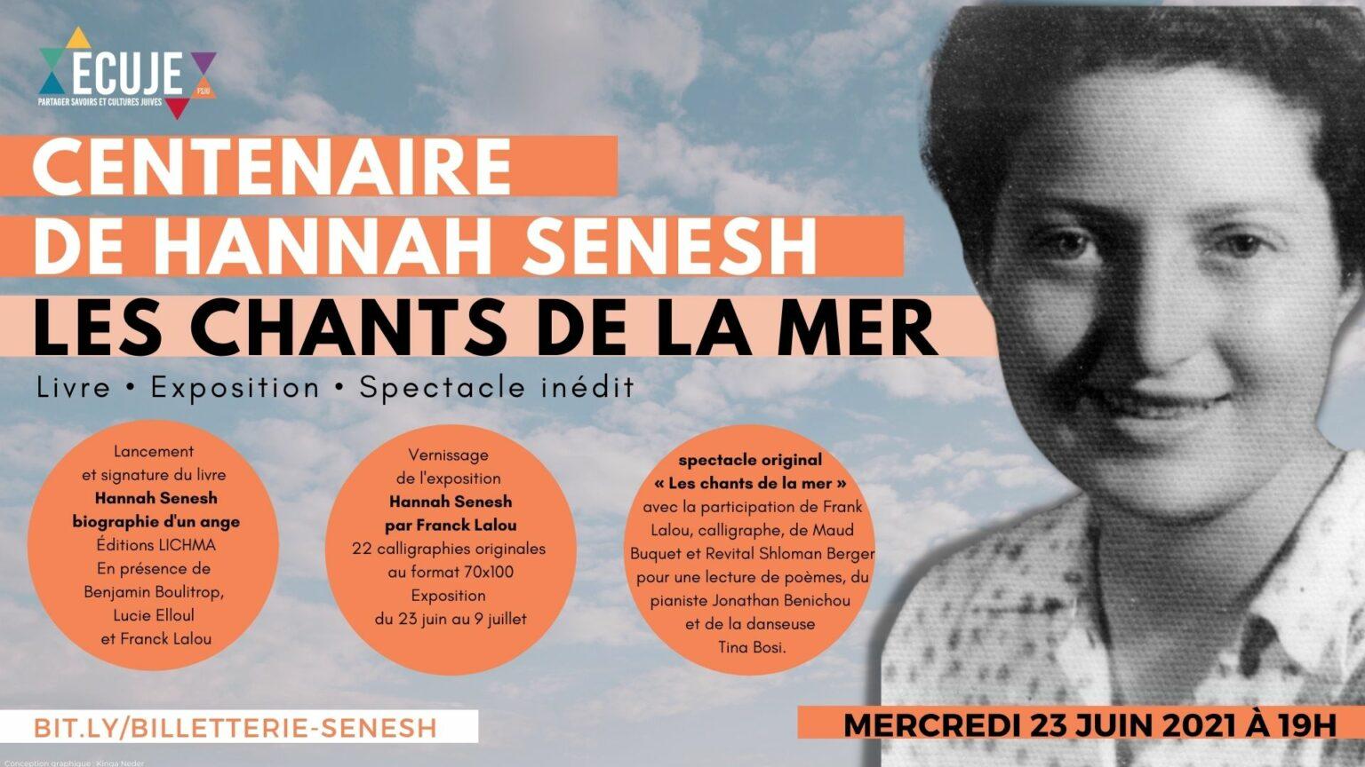 Centenaire de la naissance de Hannah Senesh: les chants de la mer