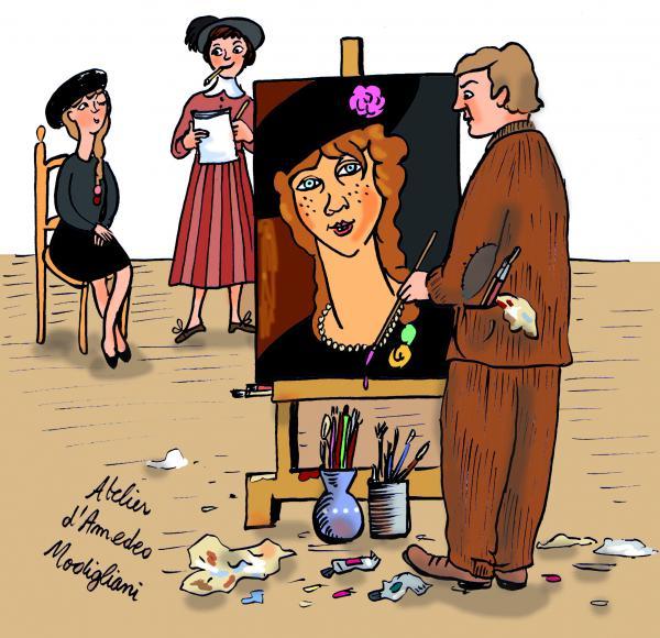 Dans l'atelier du peintre, avec Cécile Petitet