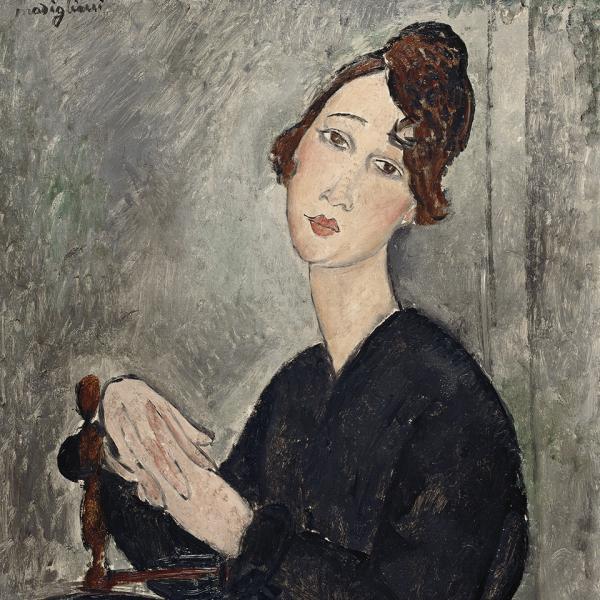 Portrait de Dédie d'Amedeo Modigliani, avec Raffaella Russo-Ricci