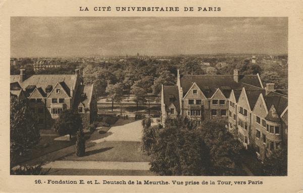 Lucien Bechmann à la Cité universitaire de Paris, avec  Ania Guini-Skliar