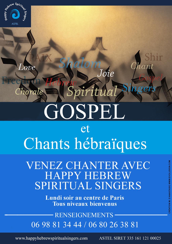 Cours de la chorale Happy Hebrew Spiritual Singers