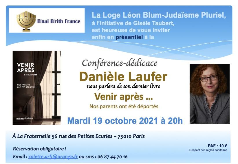 Venir après, Danièle Laufer