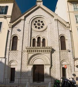 Visite du ghetto de Nice, avec  Brigitte Tanauji