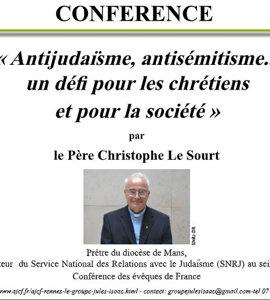 Antijudaïsme, antisémitisme... un défi pour les chrétiens et pour la société, avec Christophe Le Sourt