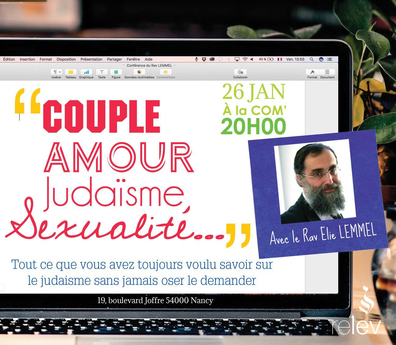 Couple, amour, judaïsme et sexualité, avec Elie Lemmel