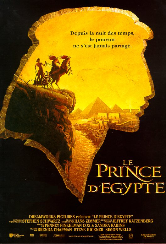 Animation : Le Prince d'Egypte, de Steve Hickner
