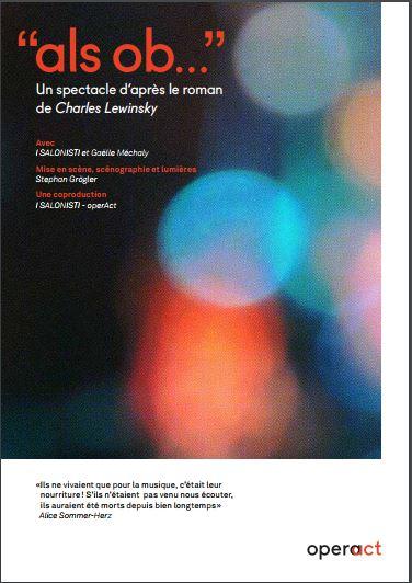 Als Ob, d'après le roman de Charles Lewinsky