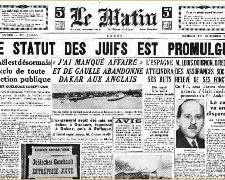 La politique antisémite de Vichy